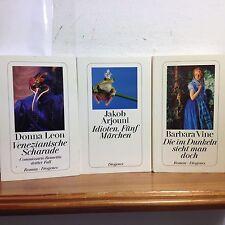 3 Bücher Venezianische Scharade/Fünf Märchen/Die im Dunkeln sieht man nicht
