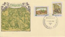(K60-25) 1982 AU FDC 96c 2 stamps Christmas (X)