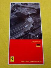 Ferrari Owners Handbook RARE Supplement - Security NavTrack - German Text 2007