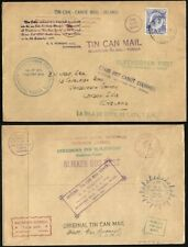 TONGA 1937 TIN CAN MAIL COVER TO ENGLAND (ID:183/D28640)