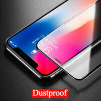 For iPhone X Tempered Glass Film DUSTPROOF Screen Protector Full Cover 5D Curved