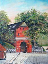 Gemälde von Walter Bergmann Öl auf Leinwand um 1949 Ein ort in Schweiz