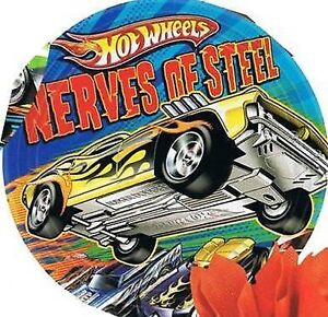 Hot Wheels Party Supplies - Party Side/Dessert Plates - 8pk - 8cm