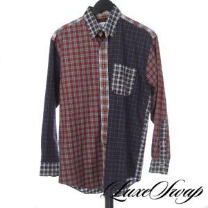 FALL ICON Brooks Brothers Multi Tartan Plaid Patchwork Button Down Fun Shirt S