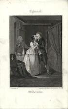 Stampa antica THUMMEL Coppia di innamorati 1860 Old antique print Alte stich