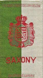 SAXONY (eastern GERMANY state) - 1910 EGYPTIENNE LUXURY cigarette TOBACCO  silk