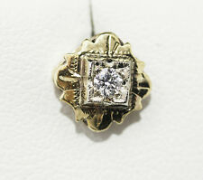 Beautiful handmade vintage G VS Diamond stud earrings, in engraved gold setting.