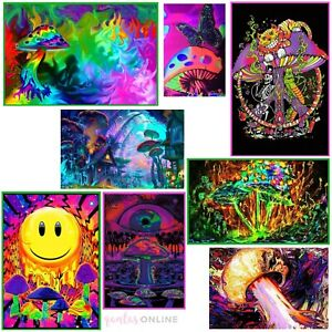 Cool Trippy Psychedelic Wall Art Canvas Poster Decor For Home Living Bed Room