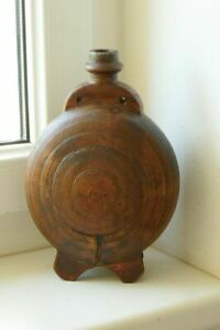 Rar Early Antique Small Wooden Barrel Originally Painted Canteen Barrel Keg Jug