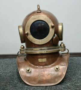 Original Russian  Soviet 3-bolt diving helmet (year 2001). USSR MARITIME