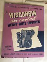 WISCONSIN HD ENGINE ADH ENGINE INSTRUCTION & PARTS MANUAL Book Original