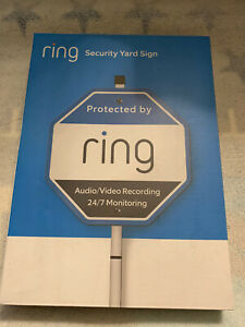 Ring Security Yard Sign NEW