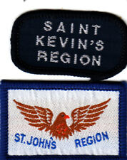 Boy Scout Badges Ext SAINT KEVIN`S + Ext St. JOHN`S REGIONS CSI Assn IRELAND