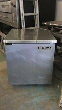 True Tuc 27- Undercounter Refrigerator w/ Sold Door, Stainless steel
