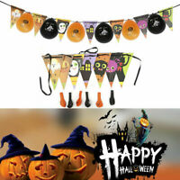 Halloween Garden Party Bunting Banner Hanging Home Decoration Paper Foil Garland