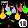 Globe String Lights, FOCHEA 39ft 100 LED Outdoor Festoon Lights Globe String 8