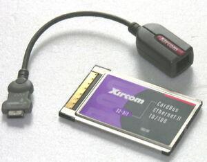 Xircom PCMCIA LAN Adapterkarte CBE2-100 ADAPTER notebook mac pc Netzwerkkarte