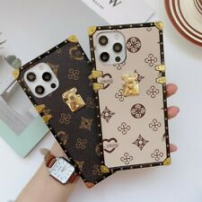 Luxury Vintage Square Leather Phone Case For Samsung S21 S20 S10 S9 Note20 10 9