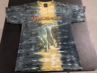 Vintage 2000 Disney Dinosaur Movie Cast Member T Shirt Tie Dye Crew Promo Medium