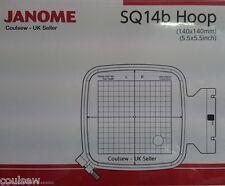 JANOME 400E, 500e Embroidery Extra Hoop Square SQ14b 140x140mm Genuine 864406002