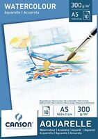 Canson 200005788 - Watercolour Drawing Paper, White, A5, 14.8 x 21 cm, 300 gsm