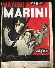 MARINO MARINI PROJET D'AFFICHE POUR LES DISQUES VOGUE PHOTOMONTAGE ET GOUACHE