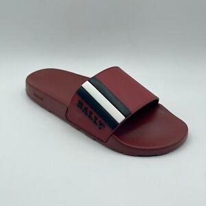 Bally SAXOR/01 Men's Dark Red Garnet Rubber Slide Slipper Sandal 6219587