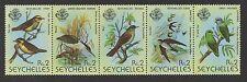 Seychelles.1980 Birds. Se-tenant strip x 5 values. Unmounted mint. FREEPOST!