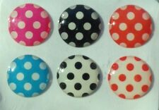 6pcs Home Button Sticker Polka Dots for iPhone 5/4/3 Apple