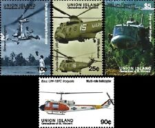 St Vincent Union Is 2007 - HELICOPTERS on stamps 4V: 10c 25c 90c $5 - set of 4