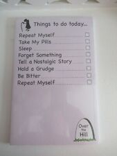 Russ Over The Hill, Things to do today pink magnetic notepad, fridge note pad