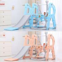 Toddler Indoor/Outdoor playground Set Swing Slide Set And Backyard Baskets Kit