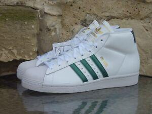 2019 Adidas Pro Model Samples UK8.5 US9 White Green Originals Basketball NWT New
