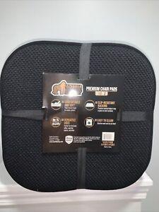 Gorilla Grip Premium Non Slip Memory Foam Chair Cushions,8 Pack,16x16 Inch Black