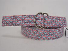 NEW VINEYARD VINES SHEP & IAN WHALE LINED D-RING BELT BOYS L