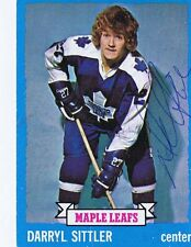 Darryl Sittler 1973 Topps Autograph #132 Maple Leafs