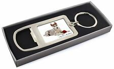 Personalised (Any Name) Chrome Metal Bottle Opener Keyring in Box G, VAD-H54RMBO