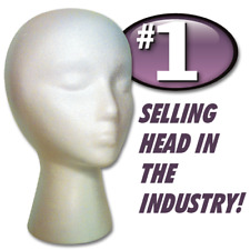HAIRESS STYROFOAM FOAM MANNEQUIN WIG HEAD DISPLAY HAT WIG HOLDER WHITE