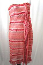 Missoni  Orange Color ZigZag  Belted Knit Sarong  Cover Up One  Size