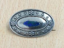 ANTIQUE STERLING SILVER & ENAMEL BROOCH PIN BY CHARLES HORNER 1910