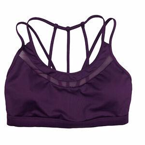 Victorias Secret Sport Sports Bra Small Women Purple Mesh Strappy Lined Wireless
