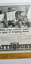 Vtg 1919 Advertising Atterbury Truck Co Ice Cream Truck Leslie'S Weekly B4
