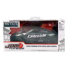 Jada Toys Metals Die Cast JDM Tuners 2009 Nissan GT-R (R35) Ben Sopra Black 1:32