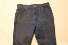 "Wrangler Blue Jeans 945NAV Tag-38""x30"" Actual-38""x30"" Boot Cut USA Made EUC"