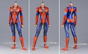 "1/6 Female Slim Spiderwoman tight Stretch Jumpsuit Bodysuit for 12"" figure Body"