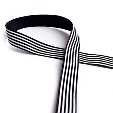 25mm Grosgrain Ribbon Cloth Tape DIY Hair Accessory Shoe Clothing Craft 3c Black