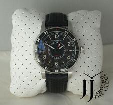 b362f51c9333 Burberry The Utilitarian GMT Black Dial Black Leather Mens Watch BU7854