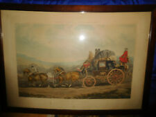 Antique Large Engraving, Fores's Coaching Recollections, Plate Iii, 1843