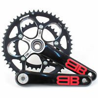 FSA BBright Aluminum Road/Triathlon Bike Crankset 50/34 10 Speed 170mm // Black