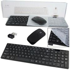 Slim 2.4G Cordless Keyboard and Ultrathin Mouse Combo Set for PC Laptop BK Sx